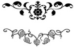 2 x Tattoo flashes -Lowerback: Leaves and Flowers